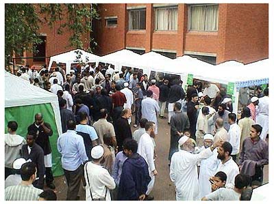 Sellers stalls at the JIMAS Islamic conference
