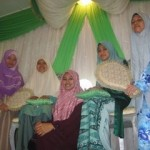 Some Muslim sisters at a walimah party