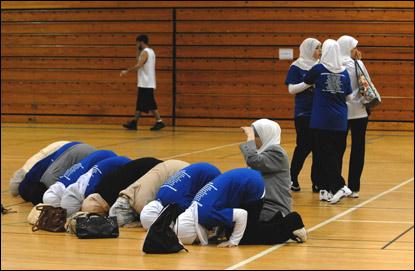 The Carolina Cyclones all-female Muslim basketball team
