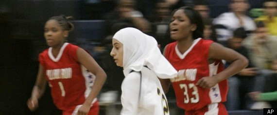 Muslim teen basketball player